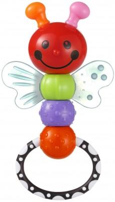 Jucarie plastic zornaitoare si dentitie pentru bebelusi fluturas