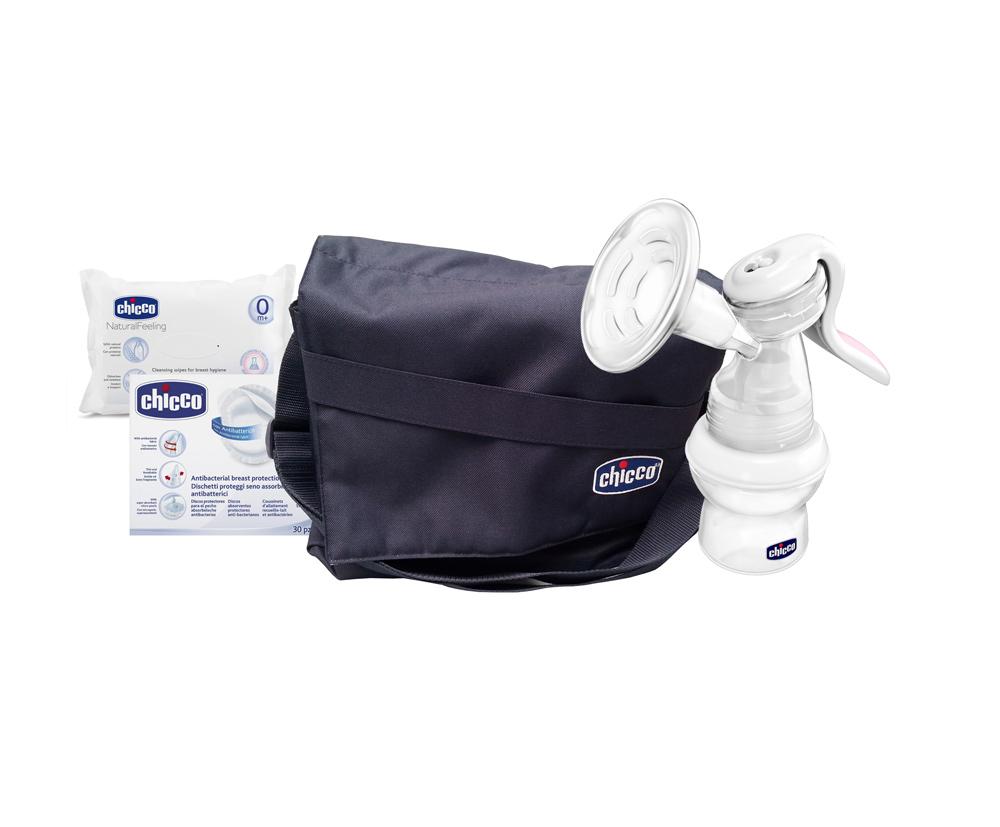 Kit Chicco alaptare naturala si ingrijire sani + geanta accesorii CADOU