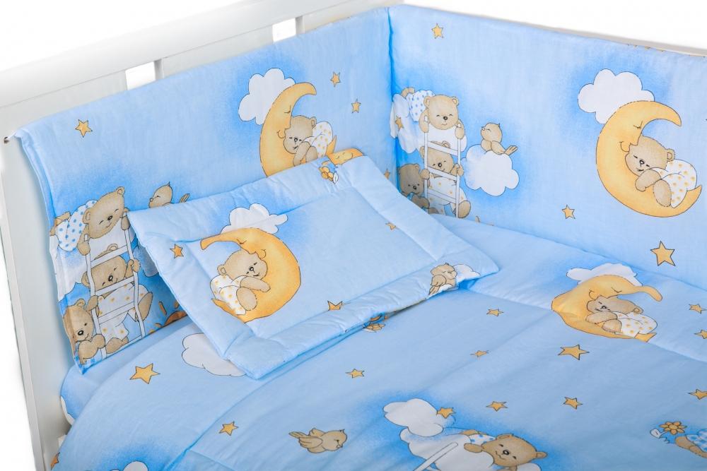 Lenjerie Patut Cu 4 Piese Ursuletul Somnoros Albastru