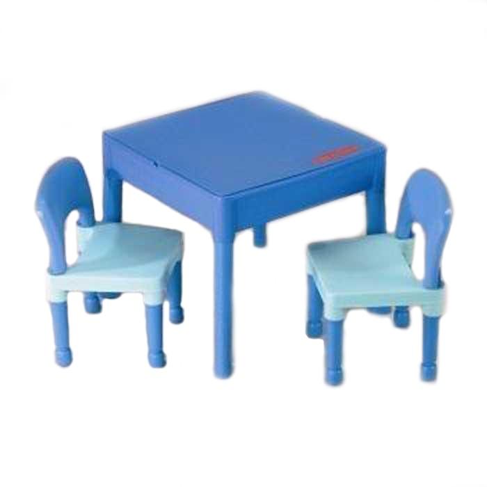 Masuta Tega Baby cu 2 scaunele Albastra
