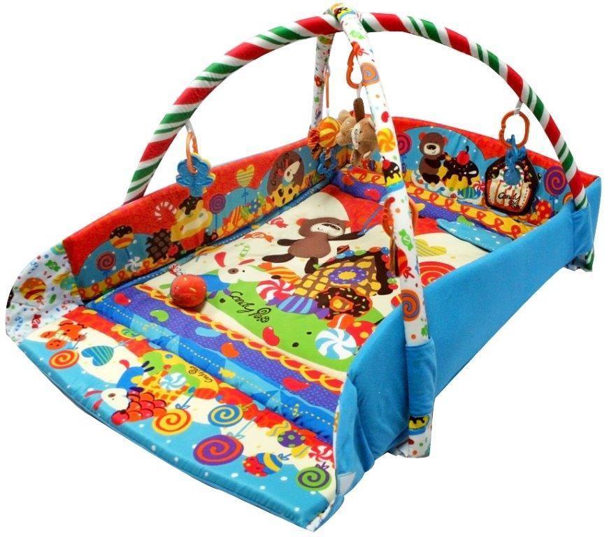 Saltea de joaca cu protectii laterale Candy Pop din categoria Camera copilului de la BABY MIX