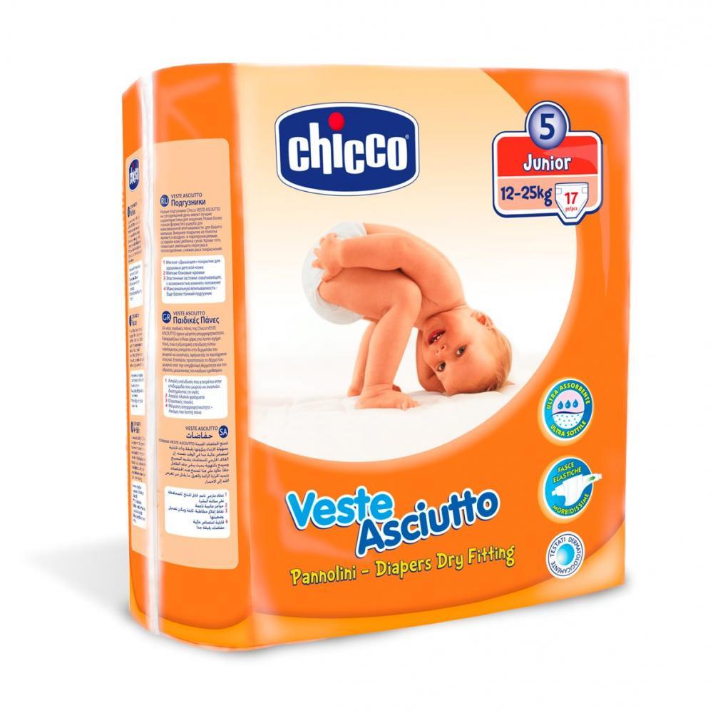 Scutece Chicco unica folosinta junior Nr. 5 (12-25 kg ), 17 buc