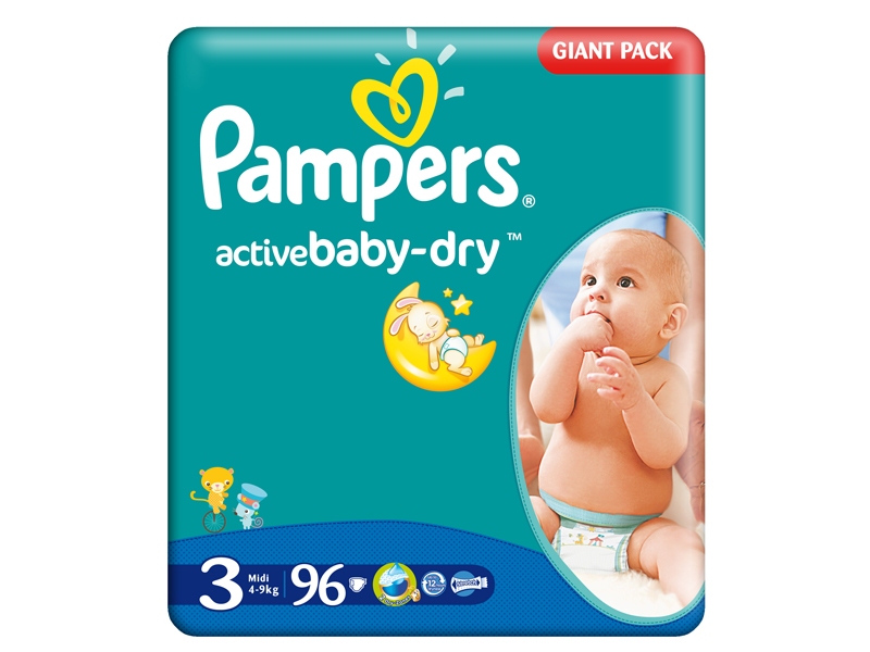 Scutece Pamper Giant Pack 3 Active Baby Pentru Copii