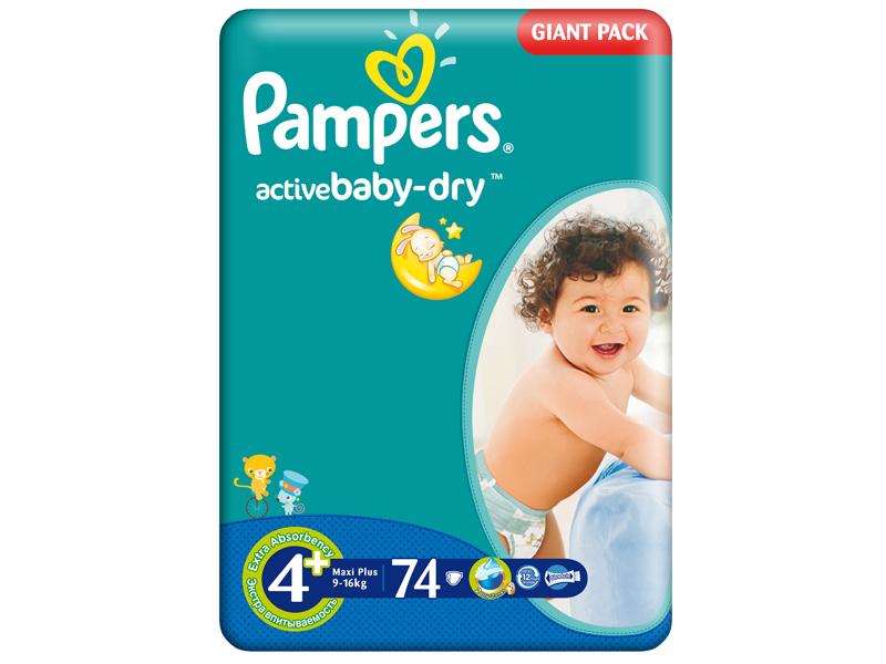 Scutece Pampers Giant Pack 4 Plus Aactive Baby Pentru Copii