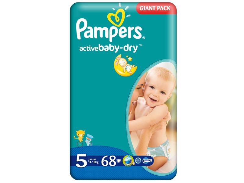 Scutece Pampers Giant Pack 5 Active Baby Pentru Copii