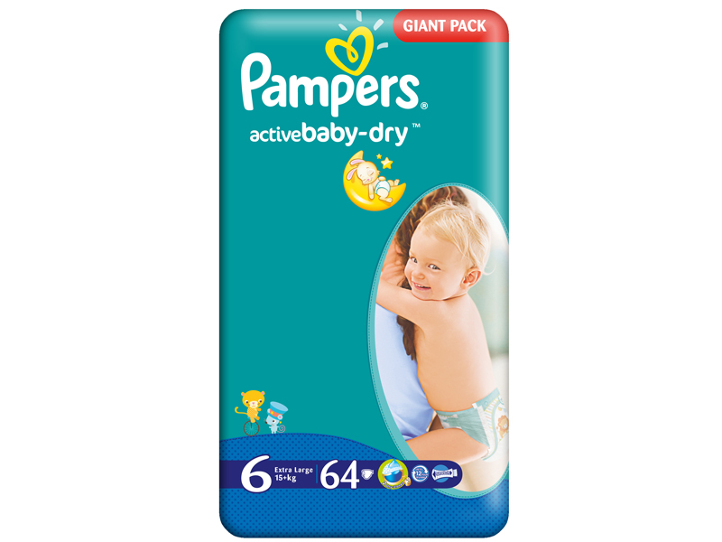 Scutece Pampers Giant Pack 6 Active Baby Pentru Copii