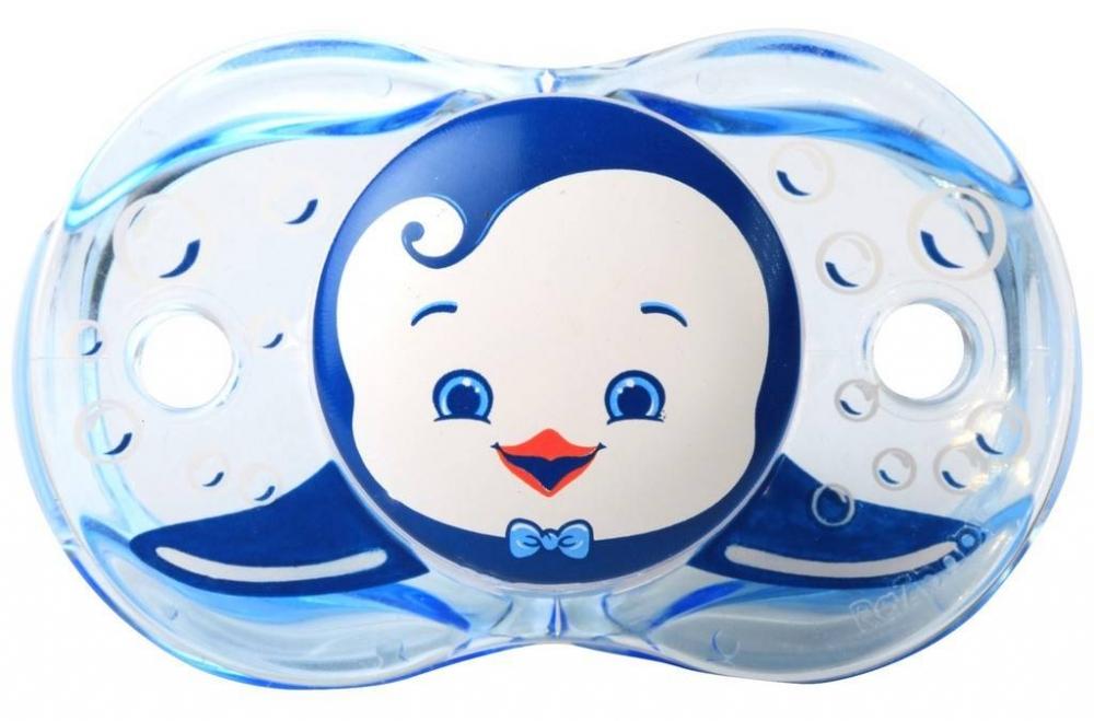Suzeta Keep it Clean Pinguin albastru
