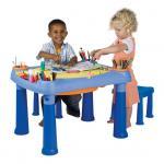 Masuta joaca copii Albastra + 2 scaune