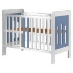 Patut copii din lemn Sophie 120x60 cm alb-albastru