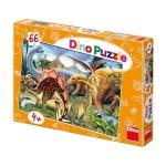 Puzzle - Dinozauri (66 piese)