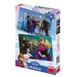 Puzzle 2 in 1 - Frozen - Regatul de Gheata (66 piese)