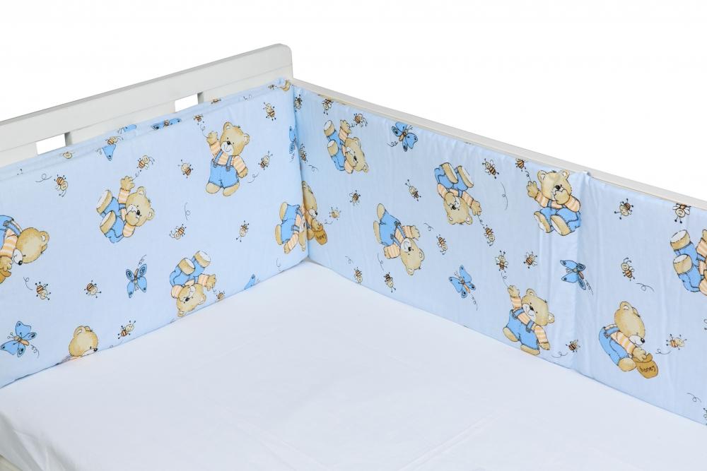 Aparatori laterale pentru pat Honey Bear Blue