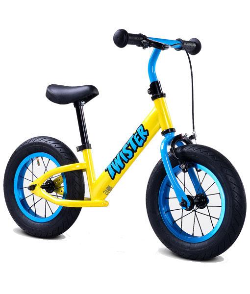 Bicicleta fara pedale Twister galben