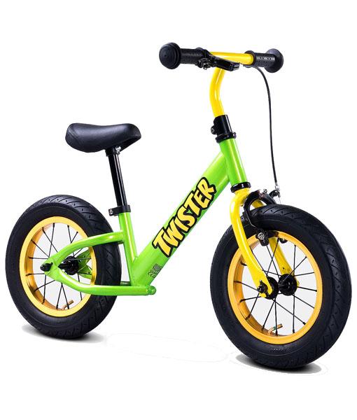 Bicicleta fara pedale Twister verde