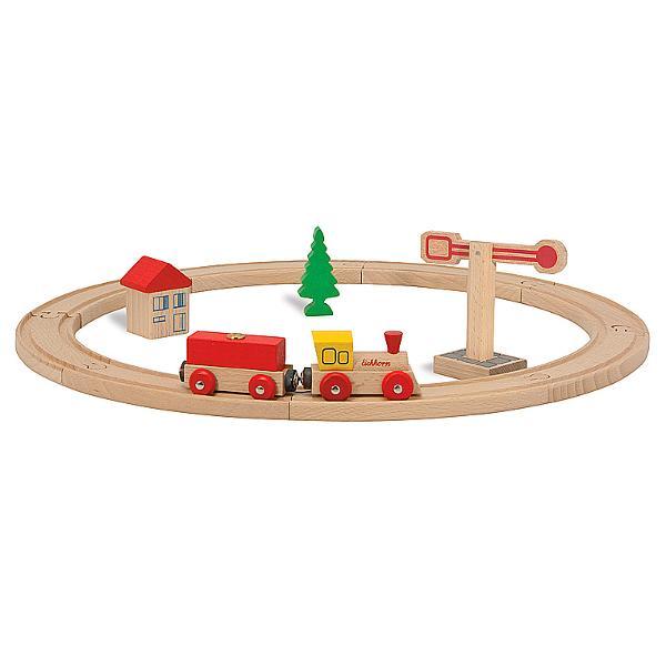 Trenulet pe sine 135 cm cu 15 piese