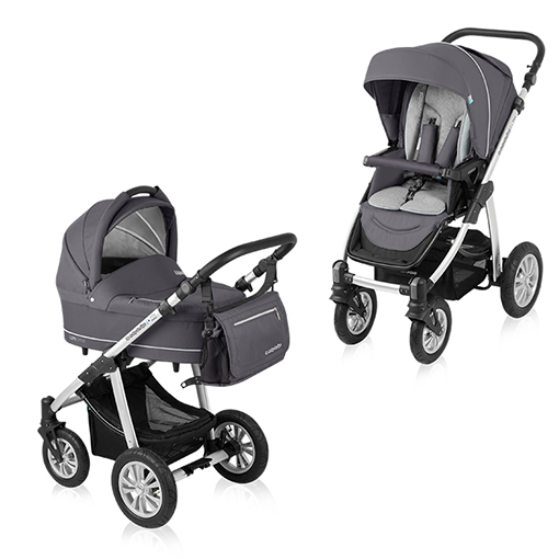 Carucior multifunctional 2 in 1 Baby Design Lupo Comfort Graphite