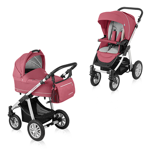 Carucior multifunctional 2 in 1 Baby Design Lupo Comfort Raspberry