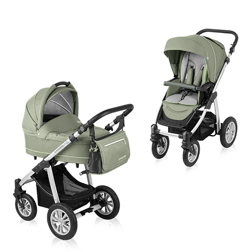 Carucior multifunctional 2 in 1 Baby Design Lupo Comfort Green