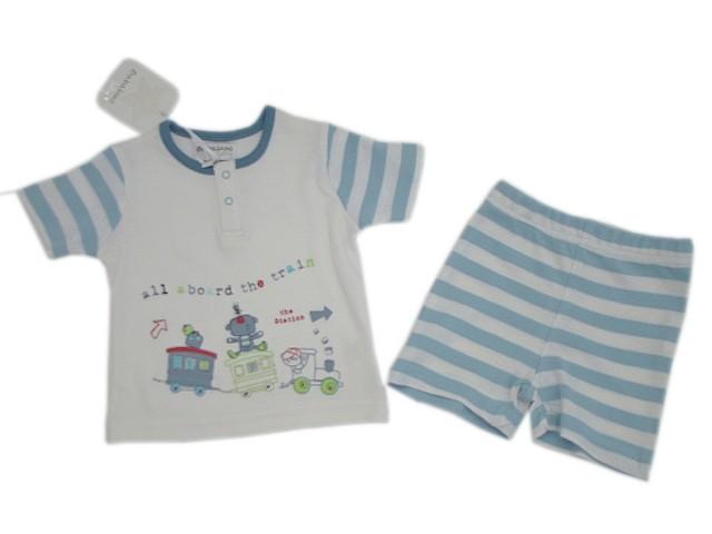 Compleu tricou si pantaloni scurti bebelusi (Masura 50)