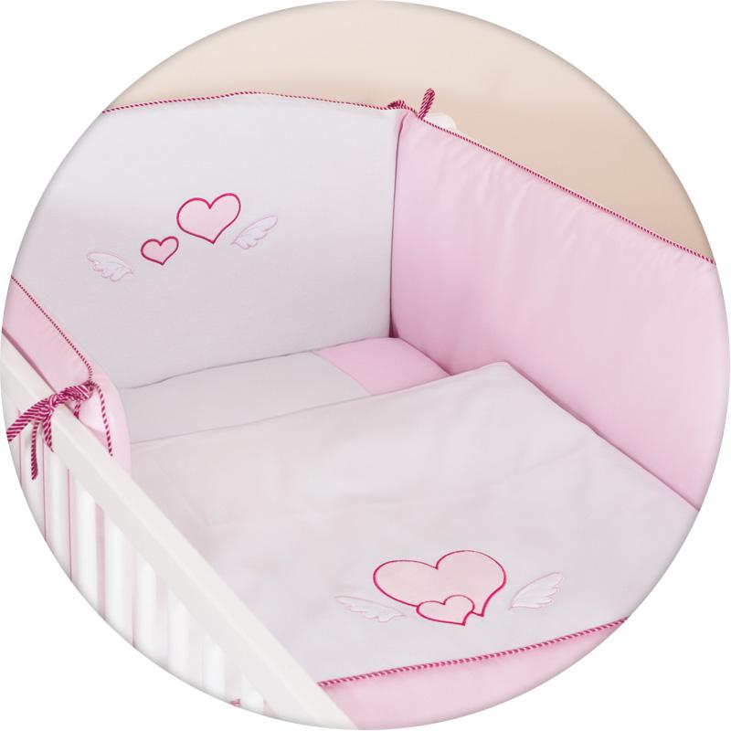 Lenjerie de pat cu 3 piese Inimioare