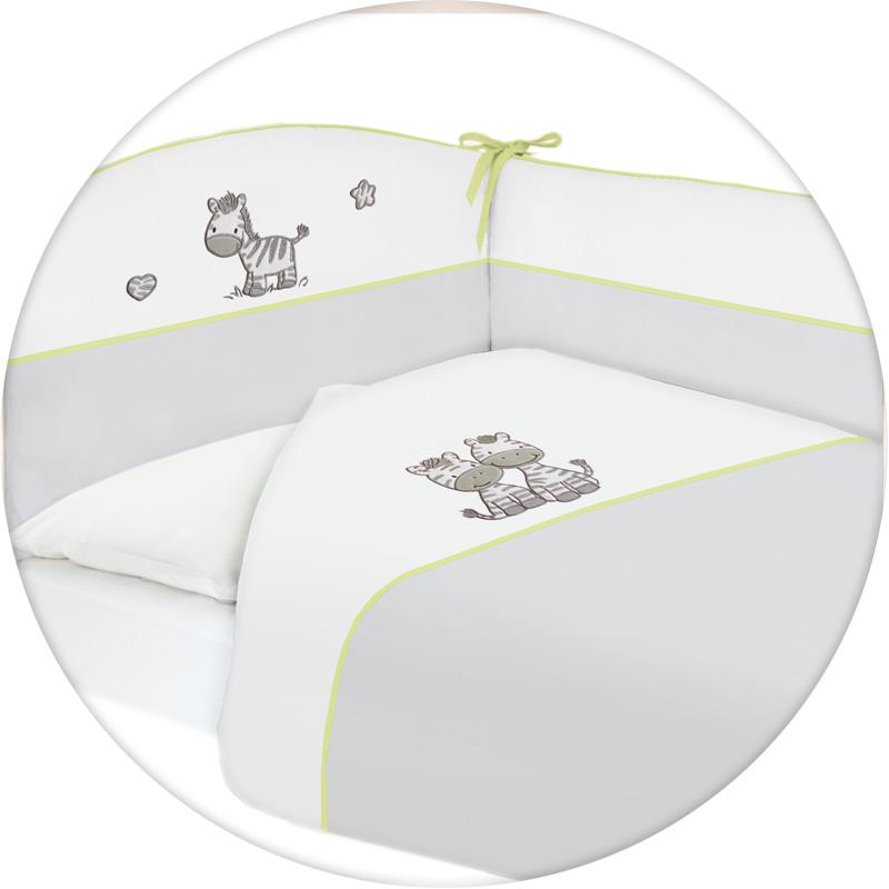 Lenjerie de pat cu 3 piese Zebra Gri