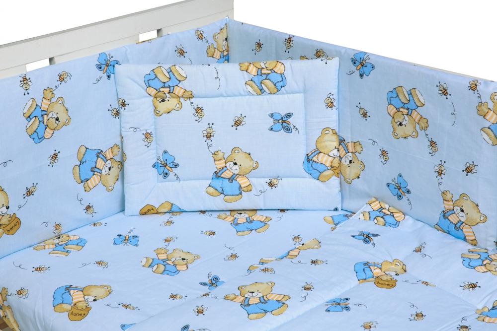 Lenjerie Patut Cu 4 Piese Honey Bear Blue