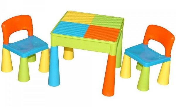 Scaune Din Plastic Pentru Copii.Masuta Guliver Cu 2 Scaune Multicolor Nichiduta Ro