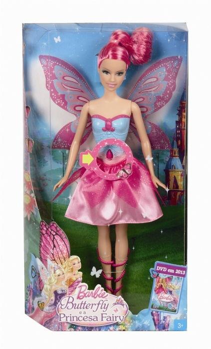 Papusa Barbie Mariposa Roz