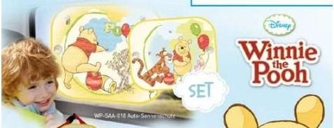 Parasolar auto Winnie the Pooh cu 2 ventuze 2set