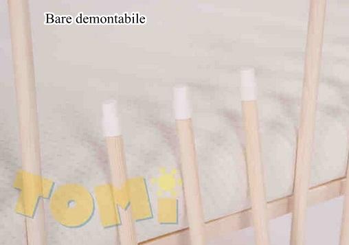 Patut din lemn cu sertar TOMI XIII color