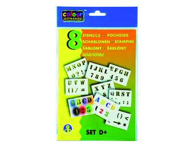Sabloane pentru desen - Litere si cifre - Set D