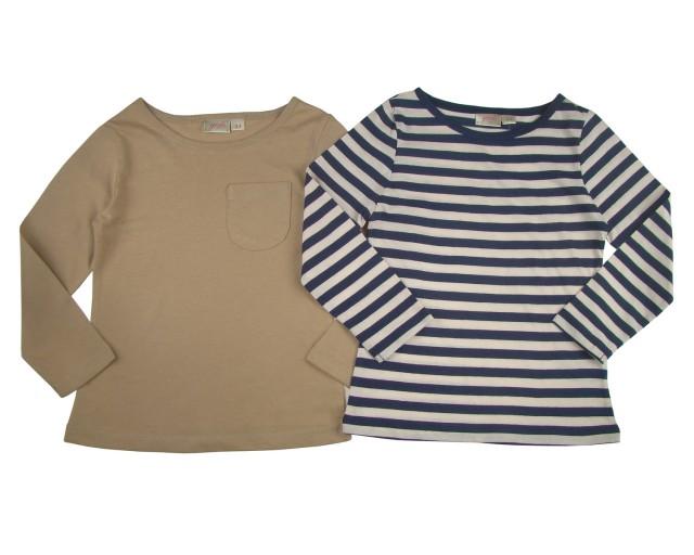 Set 2 bluze fete NEW LOOK masuri 4 ani si 8 ani material bumbac (MASURA 128 (7-8 ani))