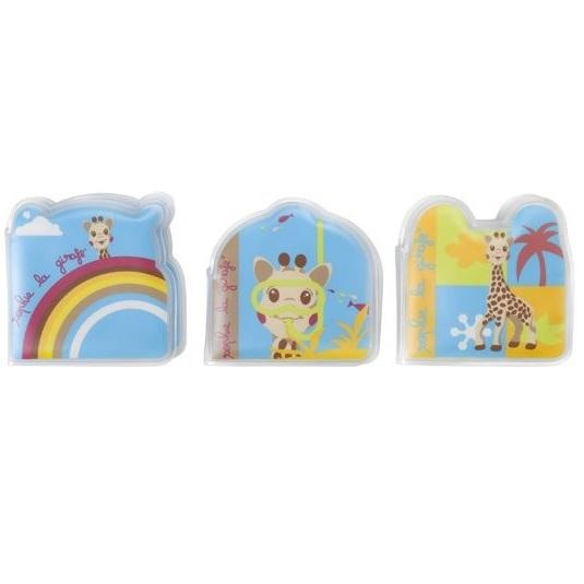 Set de 3 carti pentru baie Girafa Sophie