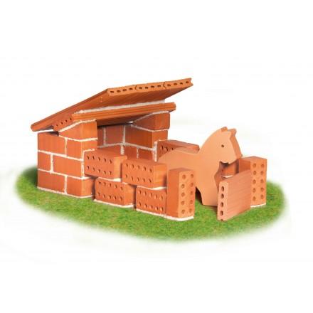Set de constructie din caramizi - Grajd de cai