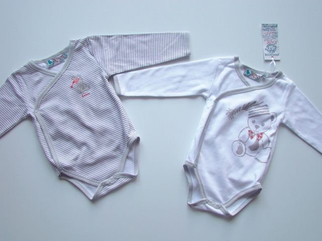 Set doua bodiuri bebelusi Baby Bear (Masura 74 ( 6-9 luni ))