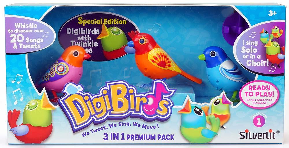 Set trei pasari interactive DigiBirds  varianta 1