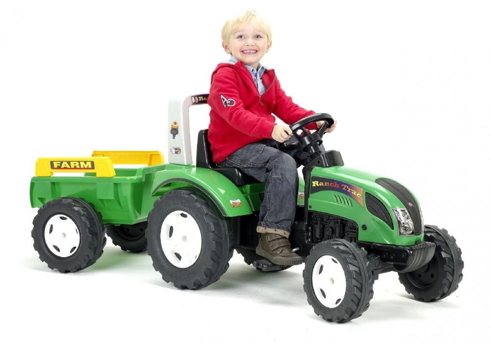 Tractor Ranch Verde Cu Remorca