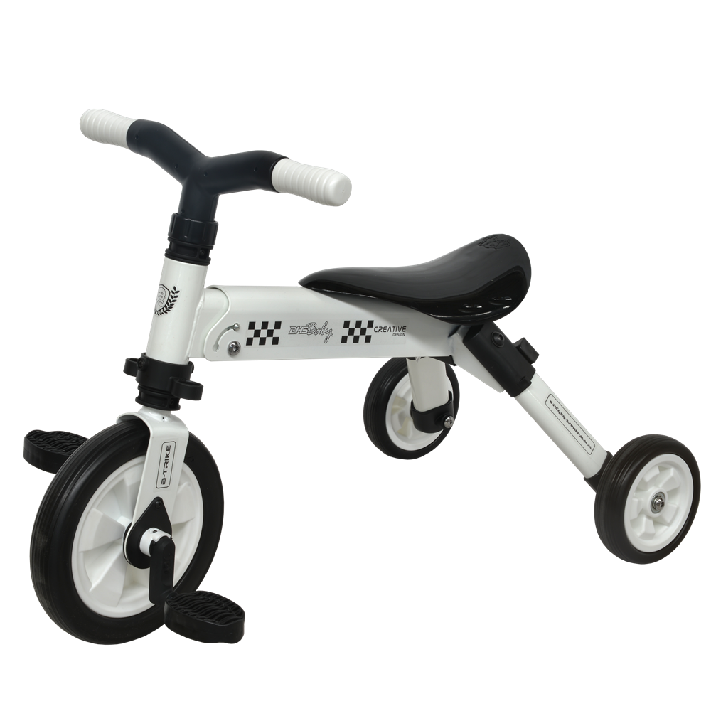 Tricicleta 2 in 1 Dhs B-Trike White