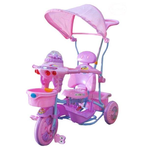 Tricicleta EuroBaby 2890AC - Roz