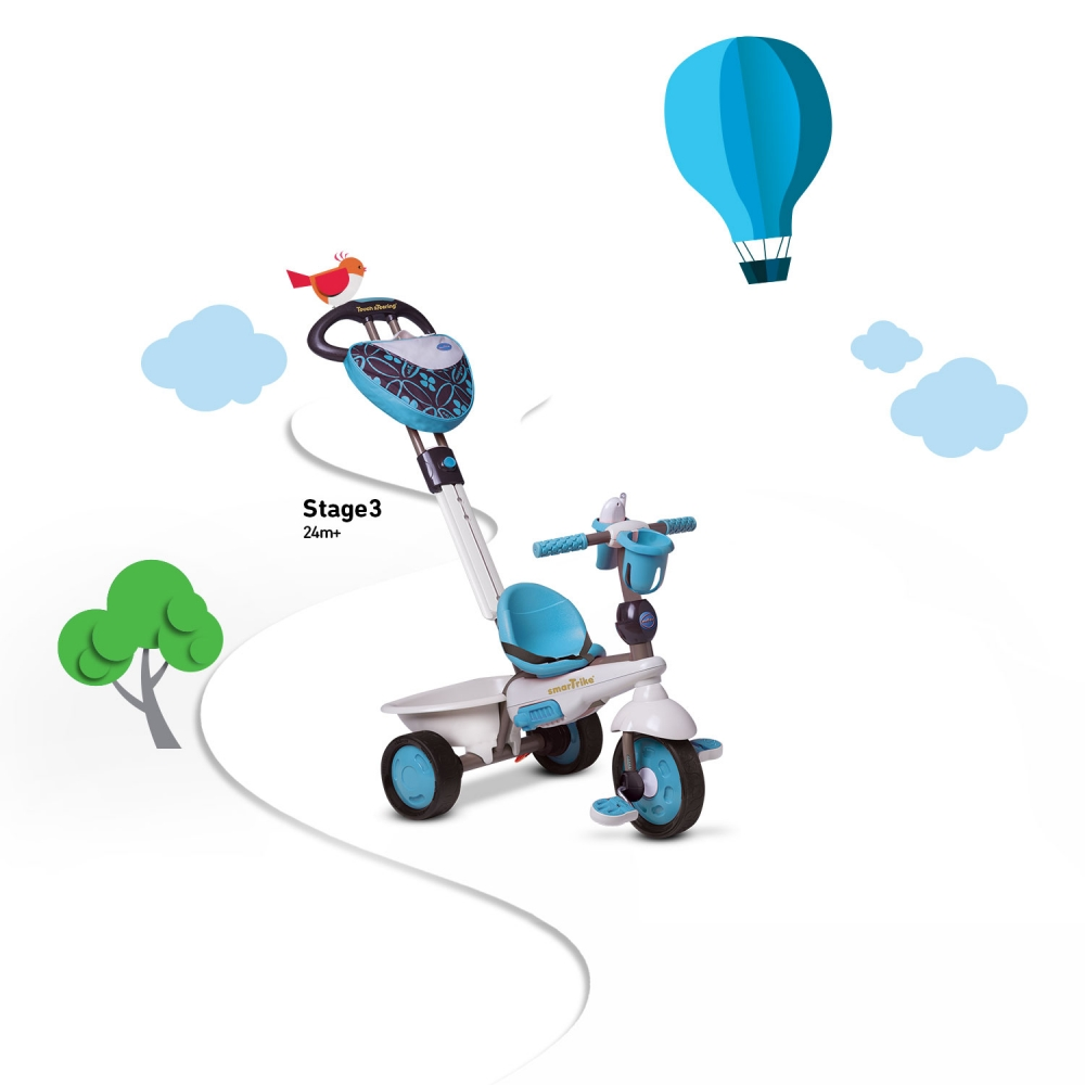 Tricicleta Smart Trike Dream 4 in 1 Blue