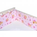 Aparatori laterale pentru pat Honey Bear Pink