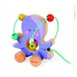 Jucarie de tras & circuit cu bile - caracatita