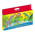 Set 24 creioane colorate cerate