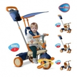 Tricicleta Smart Trike Vanilla 4 in 1 Orange-Blue