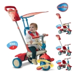 Tricicleta Smart Trike Vanilla 4 in 1 Red-Blue