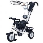 Tricicleta Toyz cu maner si roti din cauciuc Derby Alba