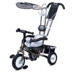 Tricicleta Toyz cu maner si roti gonflabile Derby Gri