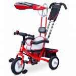 Tricicleta Toyz cu maner si roti din cauciuc Derby Rosie
