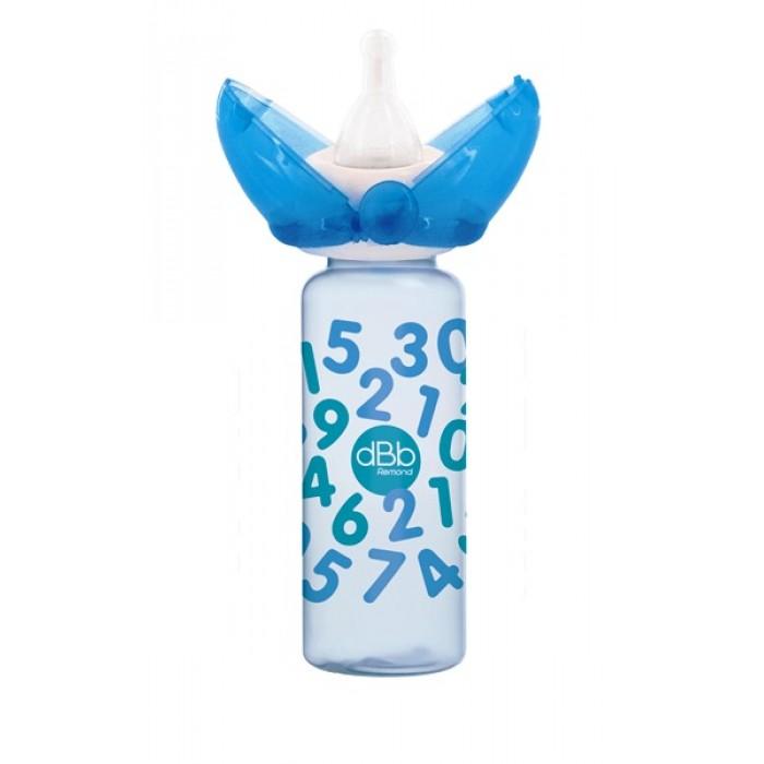 Biberon PP 240 ml, RegulAir, cu sistem protectie tetina Clic-Clac, decor Chiffres bleu