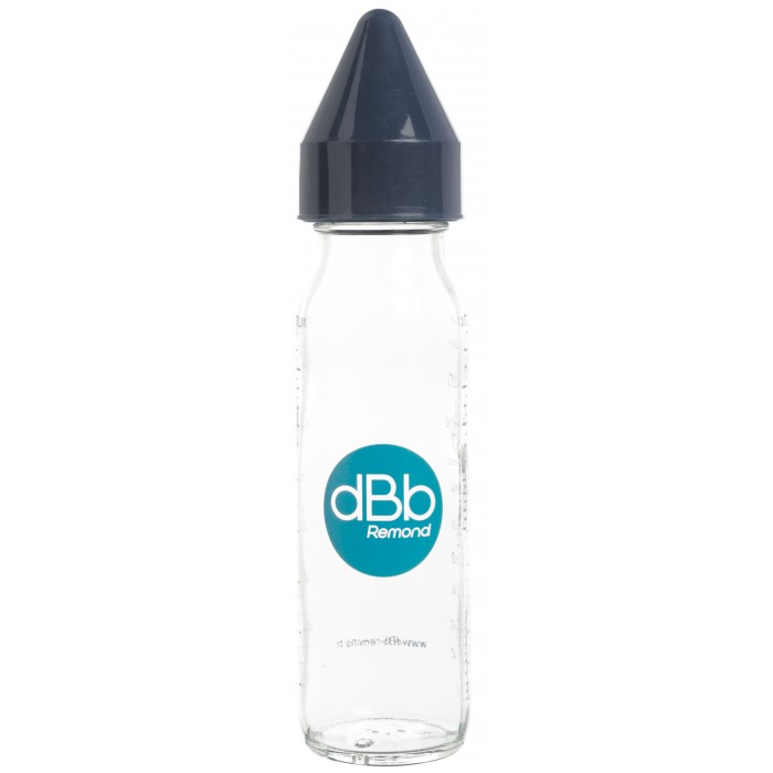 Biberon sticla 240 ml, Regul Air, tetina anticolici din cauciuc NN 0-4 luni (marine)